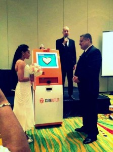 The first blockchain wedding was held at Disney World during a bitcoin conference.