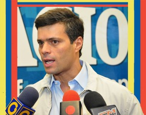 Venezuela opposition leader Leopoldo López has been jailed for more than a year in the Ramo Verde military prison.