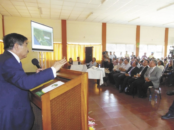 Presentation on the construction of the new canal in Nicaragua