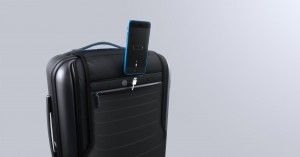 La Bluesmart tendr[a un compartimiento especial para guardar notebooks y cargar el Iphone. (Bluesmart)