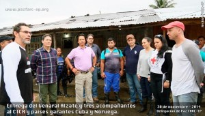 Colombian General Ruben Darío Alzate was released on Sunday along with two other hostages also captured by the Colombian guerrilla.
