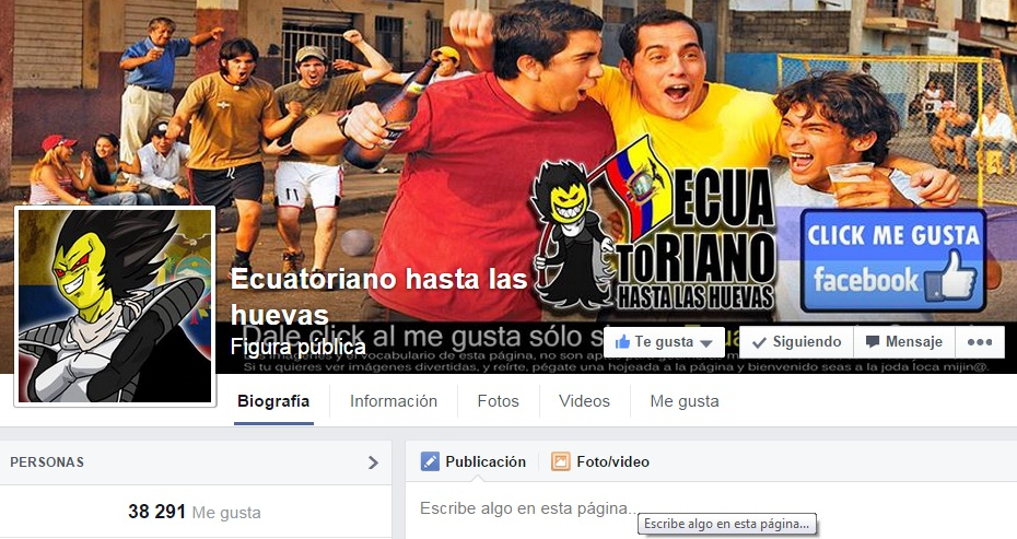 Facebook shut down the <em>Ecuatoriano hasta las huevas</em> page after a wave of complaints from Correa loyalists.