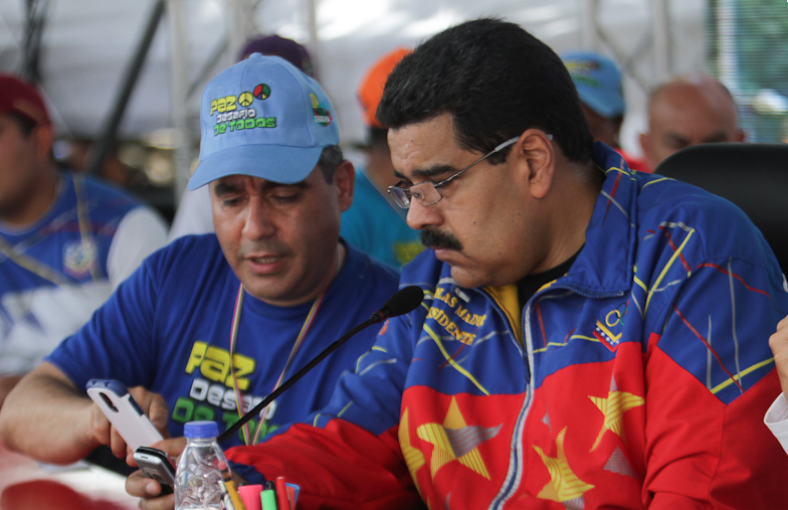 Maduro signed the disarmament plan during a ceremony for International Peace Day.