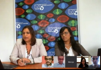 Institute for Press and Society staff present their findings via Google hangout.