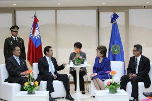 Ma Ying-jeou meeting with SICA representatives. (SICA)