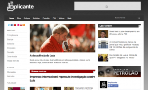 Brazilian opposition blog Implicante boasts 450,000 followers on Facebook.