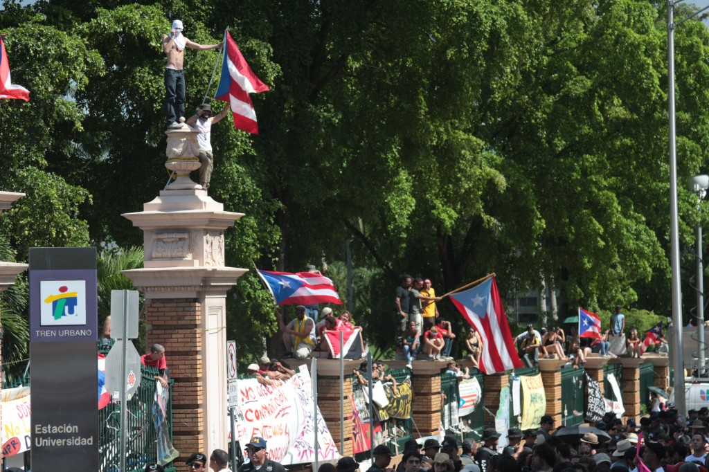 A general university protest in Puerto Rico in 2010. Other sectors have used the shutdown strategy as a way to make demands, and businesses are set to do the same on September 2
