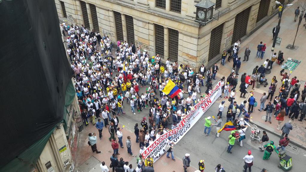 Colombian merchants across the country took to the streets to protest against a new anti-smuggling law.