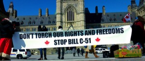 Opponents of the anti-terrorism law argue that it threatens Canadians' civil liberties.