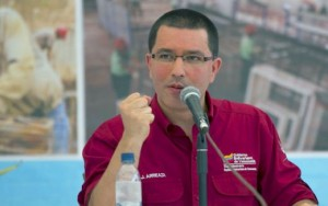 Venezuela's VP, Jorge Arreaza, asked Spanish firms to help control negative reporting in Spain