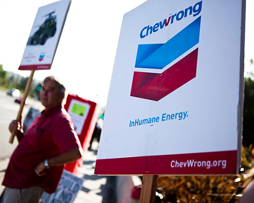 Protest against Chevron, 2012.