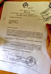 The letter by Elmer Lizardo asking for his signature to be withdrawn from the ruling.