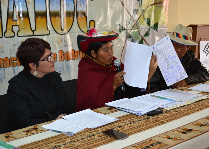 Residents of 11 Bolivian municipalities signed the petition.