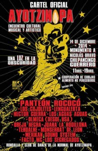 A concert planned in solidarity for Ayotzinapa's missing students ended in a violent confrontation with Mexican police.