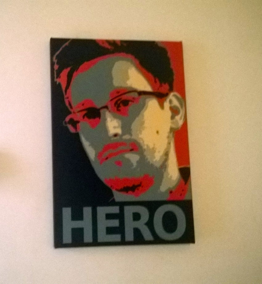 Edward Snowden's poster in Buenos Aires Bitcoin Space