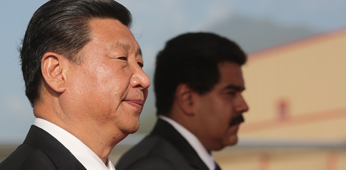 Chinese president Xi Jinping during his recent visit to Venezuela.