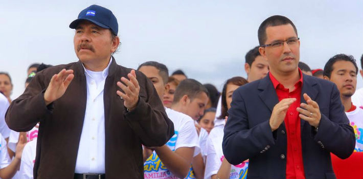 """""""You can count on Venezuela for anything the people of Nicaragua might need,"""" says Venezuelan Vice President Jorge Arreaza."""