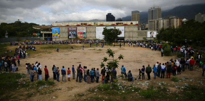 People in Venezuela dedicate entire days to waiting in line to buy food.