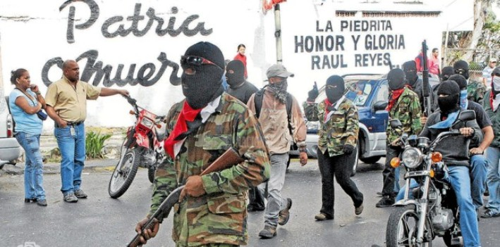 "The Venezuelan colectivo known as ""La Piedrita"" does not hide its admiration for the FARC or Raúl Reyes."