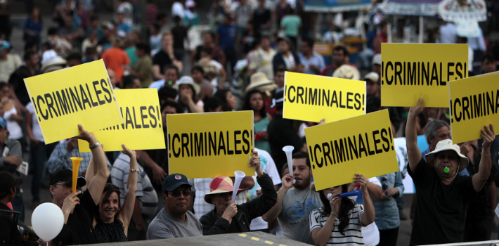 Guatemalans have been protesting against government corruption for weeks.
