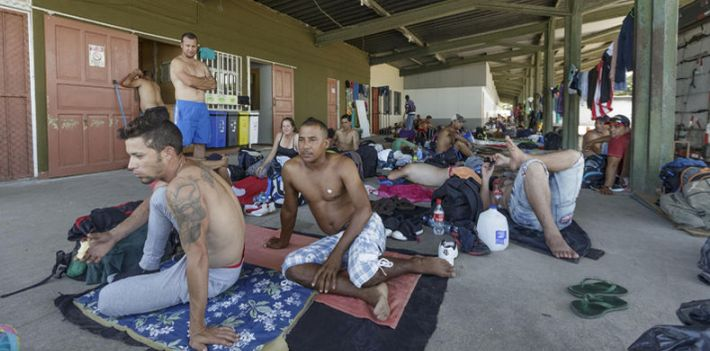 Cuban migrants bound for the United States are stranded in Costa Rica.