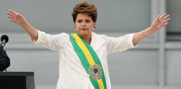 Brazilian President Dilma Rousseff is set to confront an economic downturn which nearly cost her reelection.