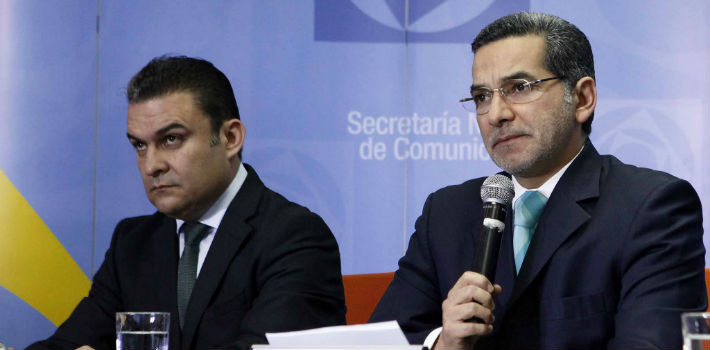 Correa administration officials José Serrano and Fernando Alvarado currently face no legal action for violations of Ecuador's Law of Communications.