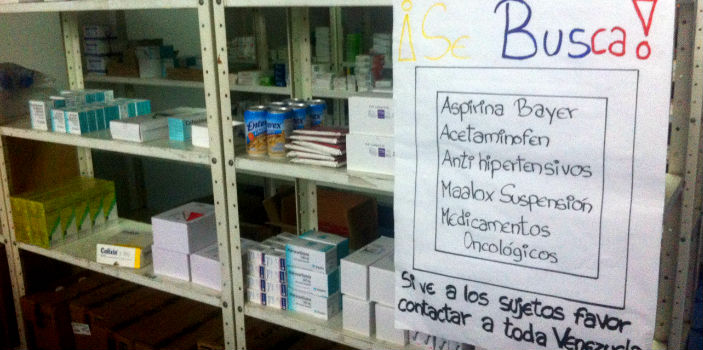 Many in Venezuela are forced to search multiple pharmacies to try and find the medication they need.