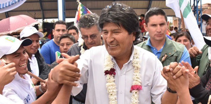 President Evo Morales said that politicians who opposed his reelection until 2025 are