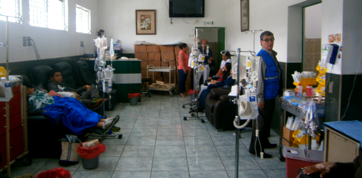In some of Guatemala's hospitals, only emergency services are currently available.