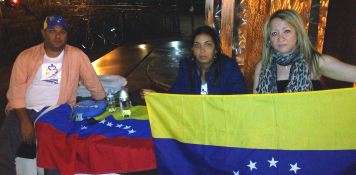 "Venezuelan exiles in New York plan to continue their hunger strike until the United Nations takes ""concrete"" action."