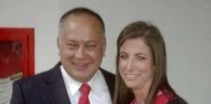An image of Susana Barreiro embracing the President of the National Venezuelan Assembly and second most powerful man of the Chavist regime, Diosdado Cabello. (Twitter)