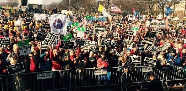 The annual March for Life is celebrated every year around January 22 in remembrance of the Roe v. Wade ruling.