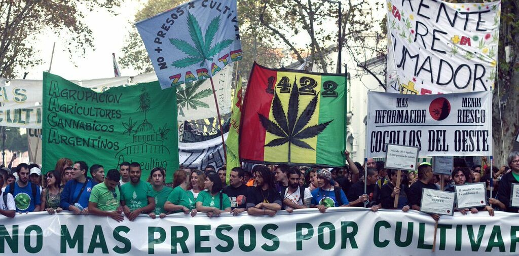 Thousands marched across Argentina on Saturday to demand an end to marijuana prohibition.