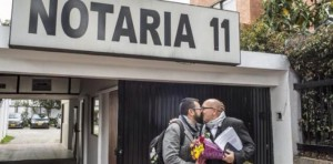 Following a 2013 decision from the Constitutional Court, public notaries began performing same-sex civil unions in Colombia.