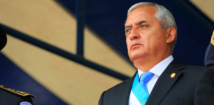 President Otto Pérez Molina apologized to Guatemalans on Sunday night during a speech on national television and radio.