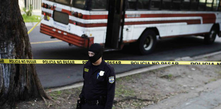 Authorities have deployed heavily armed soldiers to protect bus drivers from gang attacks in the streets of El Salvador.