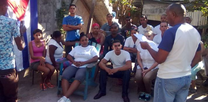 UNPACU anti-censorship activists gather for an assembly in January in Cuba.