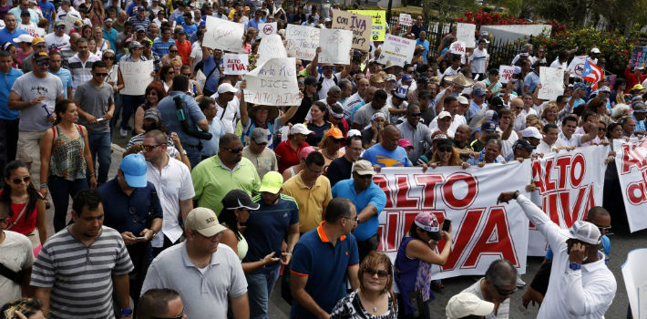 On Sunday, March 1, Puerto Ricans held a march to reject the replacement of the Sales and Use Tax with a 16-percent Value Added Tax.