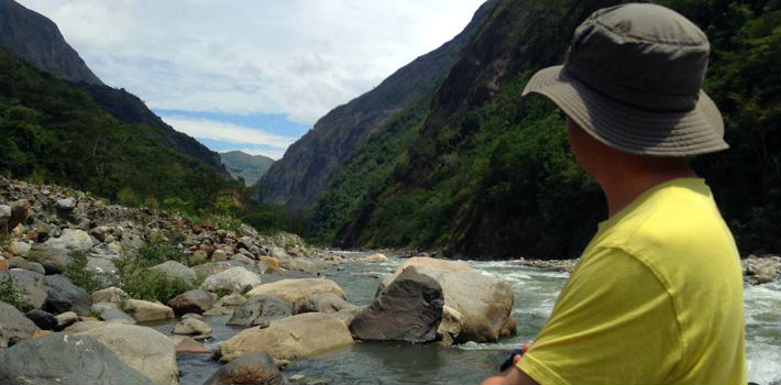 Despite being in a declared protected area, the Urubamba River, known as the