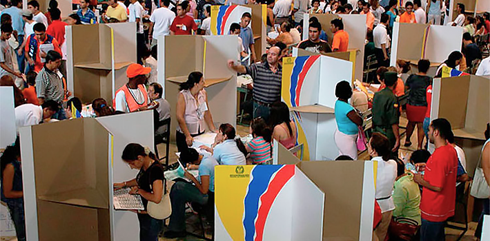 Colombian politicians have instituted obligatory voting in an attempt to legitimize their policies.