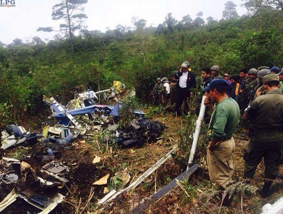 Site of the helicopter crash which killed Generals Rudy Ortiz and Braulio Mayén.