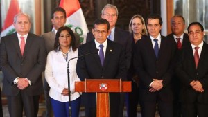 Peruvian President Ollanta Humala denied allegations he illegally spied on the vice president and opposition politicians.