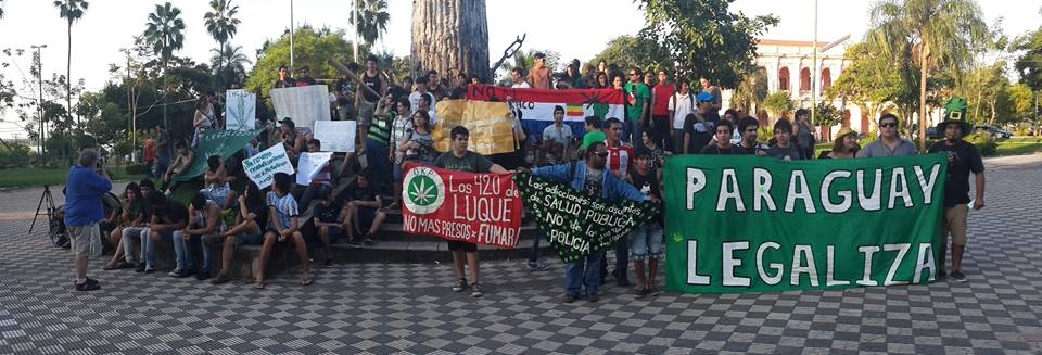 The Legalize Paraguay group organized a day of concerts and the sale of cannabis products outside the capital's Congress building.