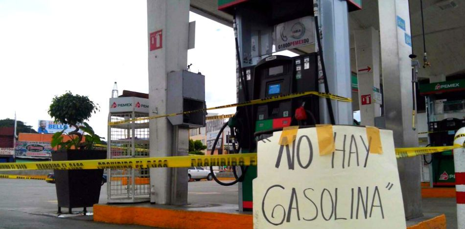 shortage of gasoline in Mexico