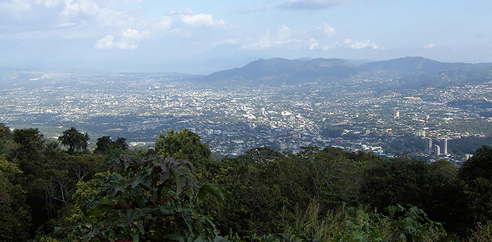 View of San Salvador, El Salvador