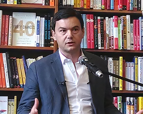 El economista francés Thomas Piketty en Cambridge, Massachusetts