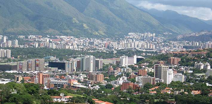 Middle and upper-class areas in Caracas suffer from a lack of public services.